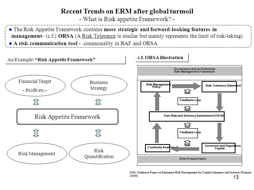 Recent Trends on ERM after global turmoil