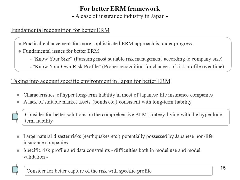 For better ERM framework