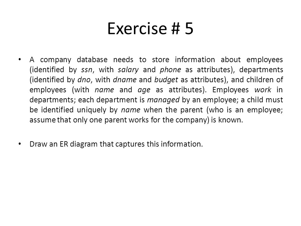 Exercise # 5