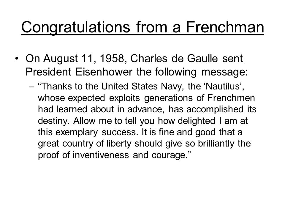 Congratulations from a Frenchman