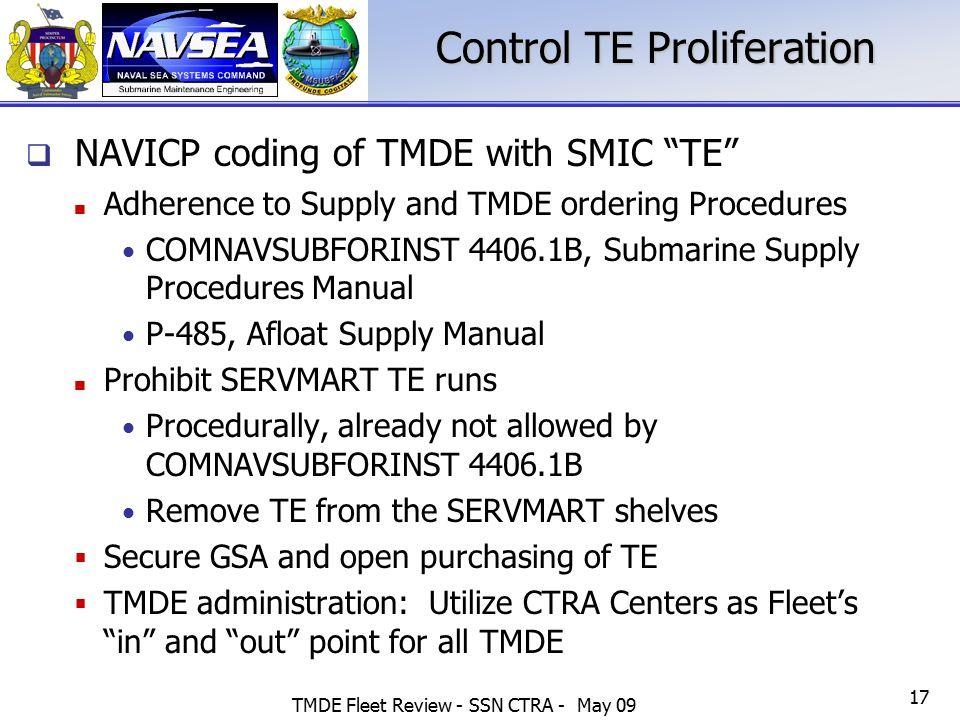 Control TE Proliferation