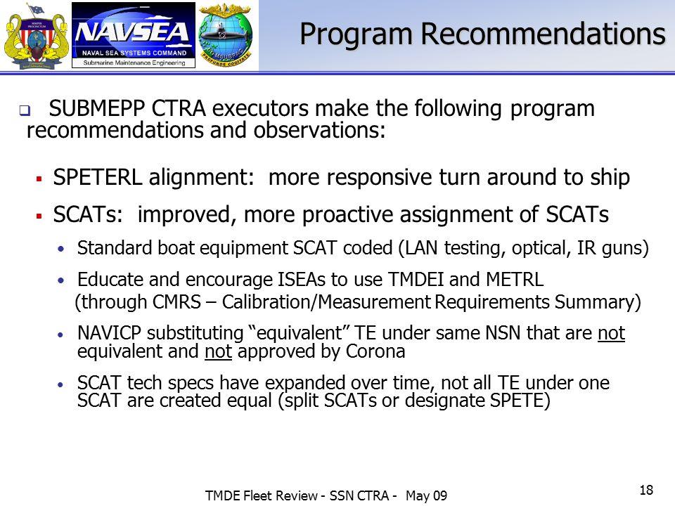 Program Recommendations