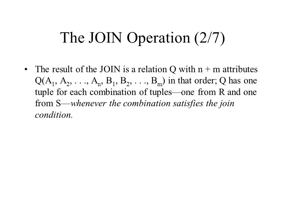 The JOIN Operation (2/7)