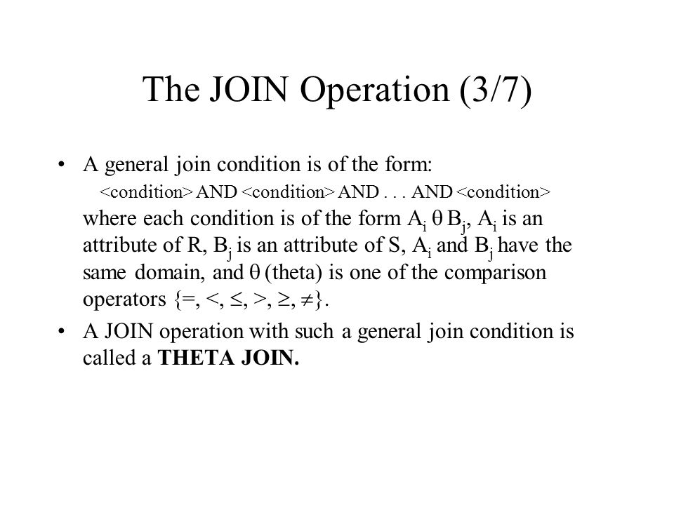 The JOIN Operation (3/7)