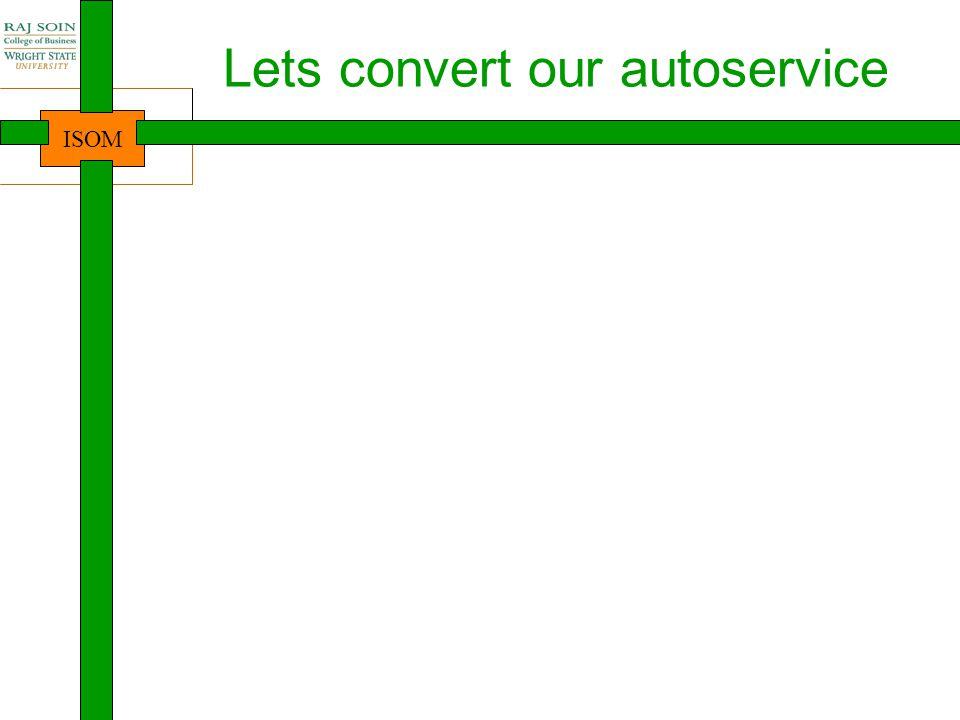 Lets convert our autoservice