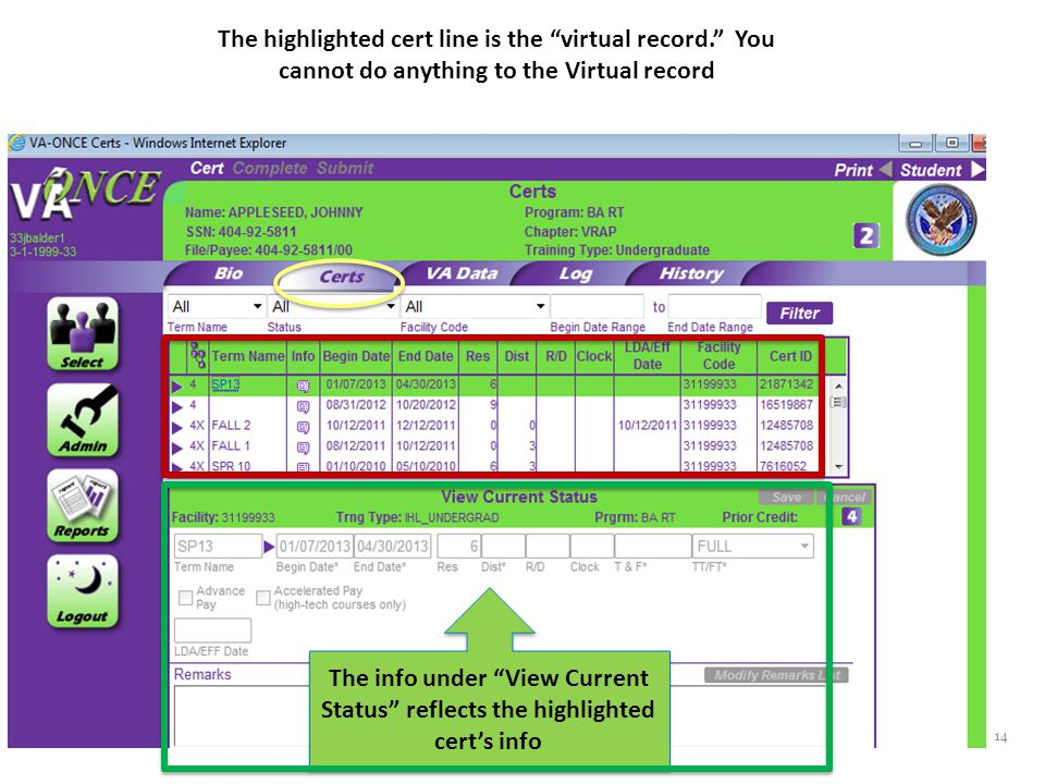 By clicking the purple arrow you can see all of the subordinate rows