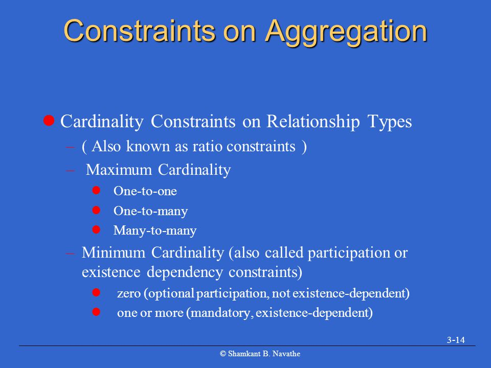 Constraints on Aggregation