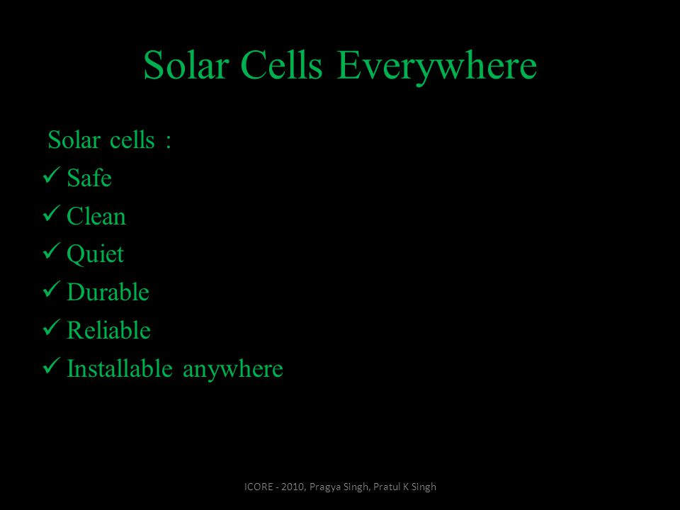 Solar Cells Everywhere