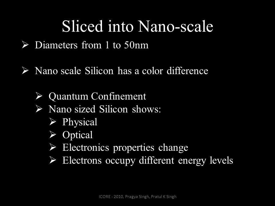 Sliced into Nano-scale