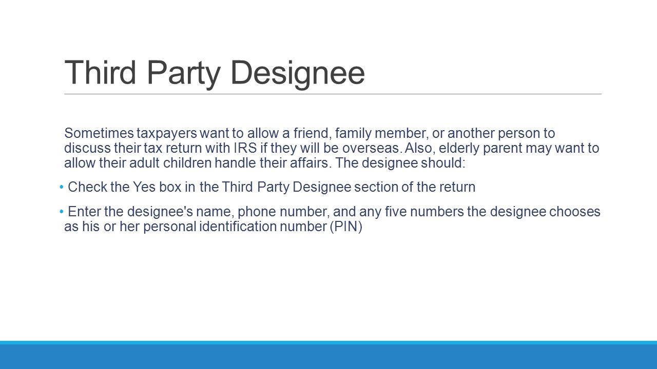Third Party Designee
