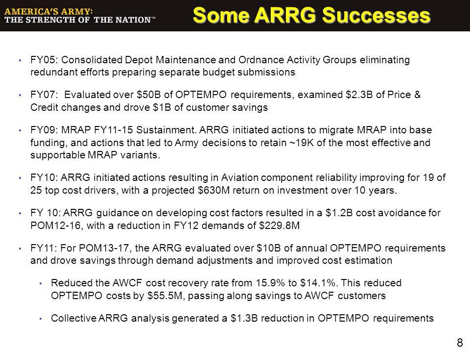 Some ARRG Successes