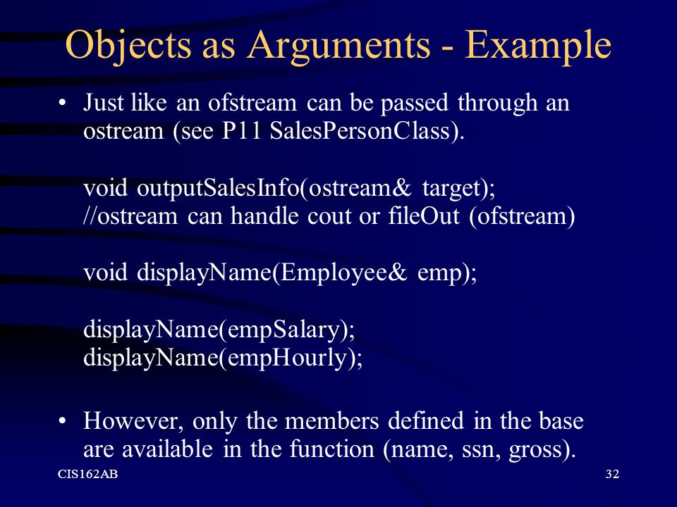 Objects as Arguments - Example