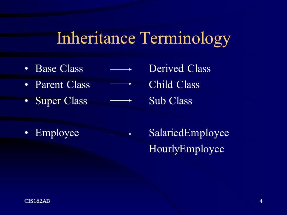 Inheritance Terminology
