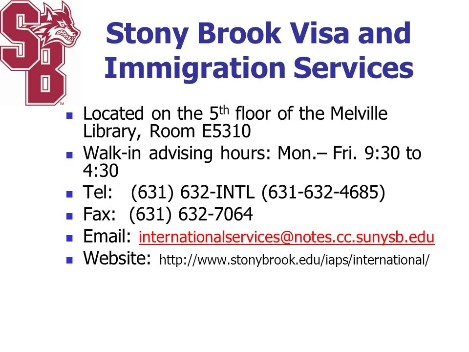Stony Brook Visa and Immigration Services