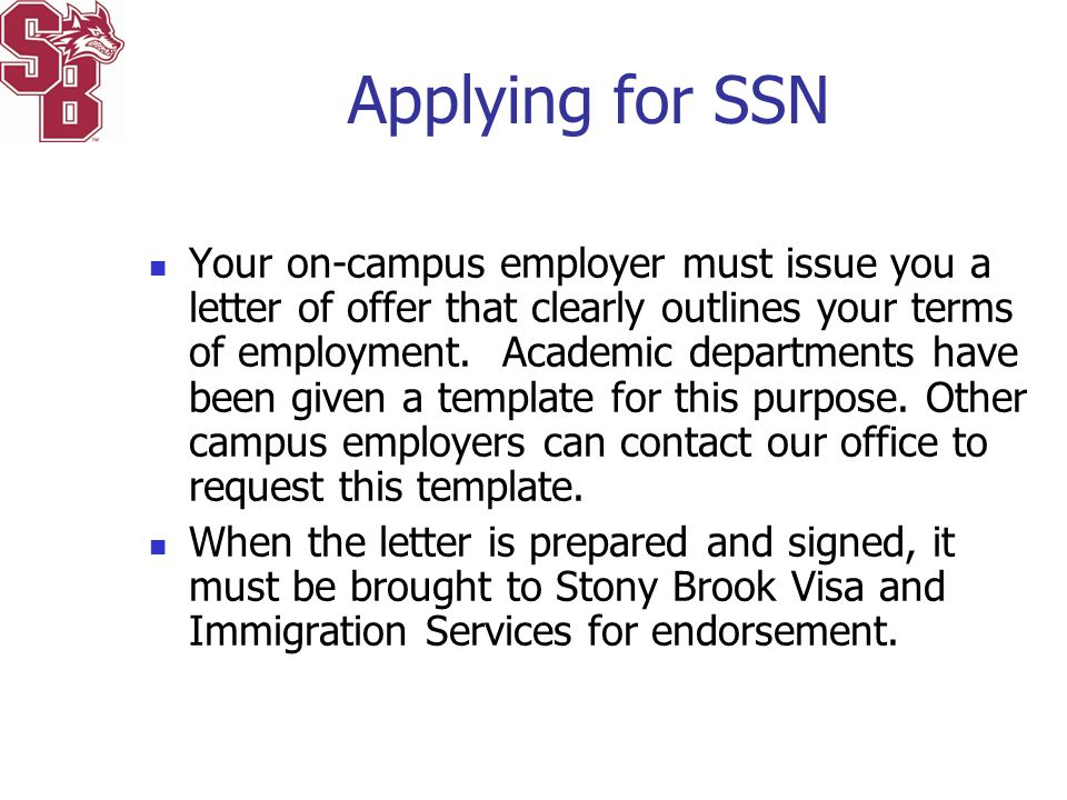 Applying for SSN