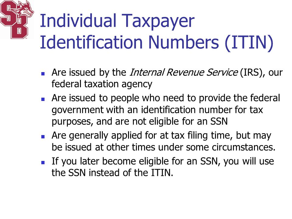 Individual Taxpayer Identification Numbers (ITIN)
