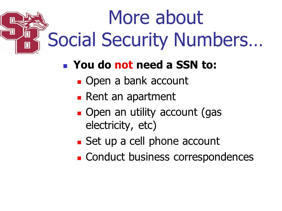 More about Social Security Numbers…