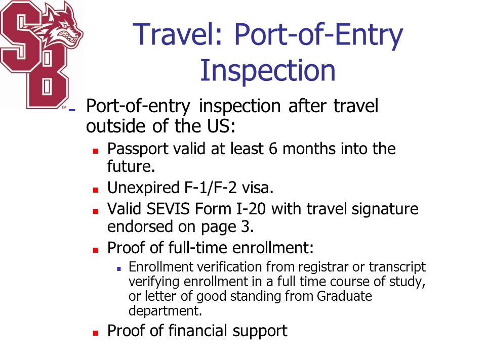 Travel: Port-of-Entry Inspection