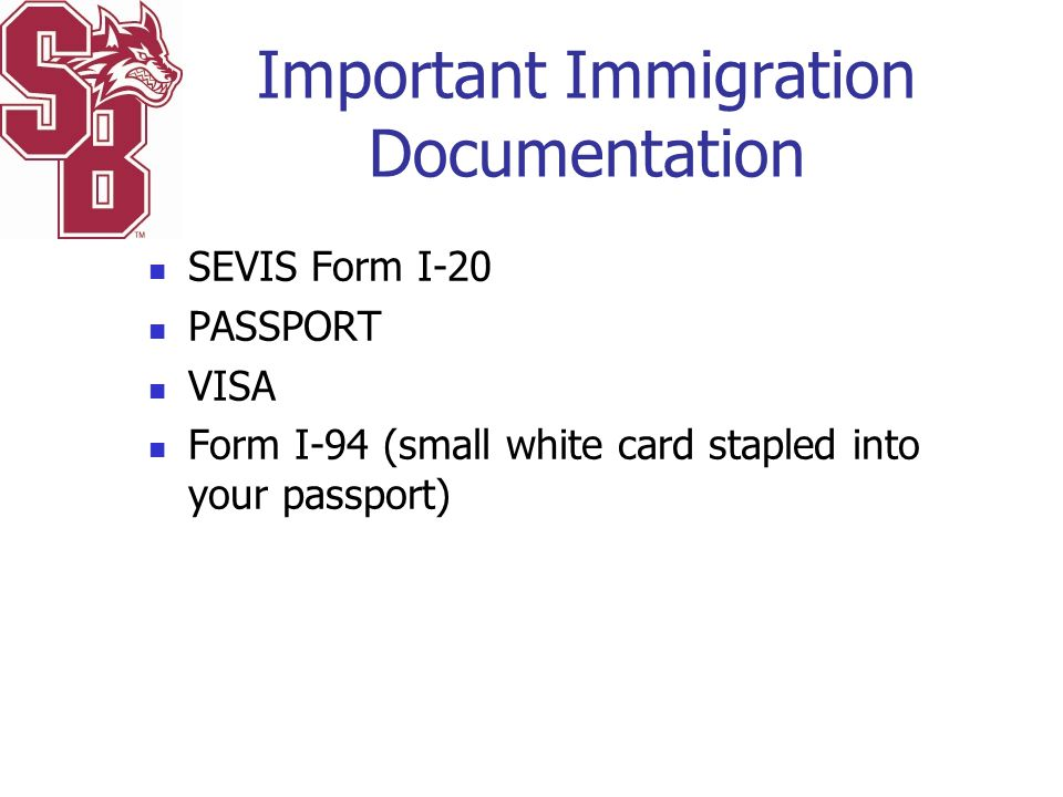 Important Immigration Documentation