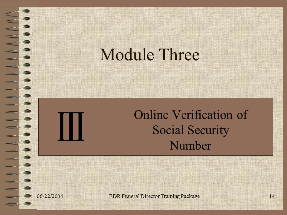 Online Verification of Social Security Number