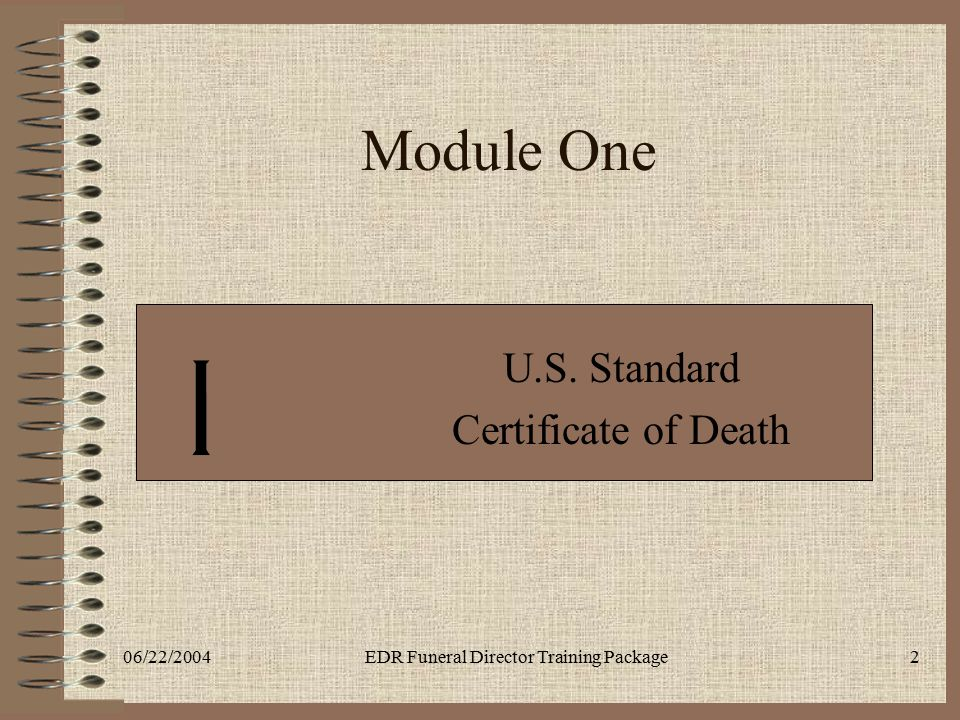 U.S. Standard Certificate of Death