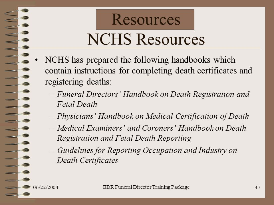 Resources NCHS Resources