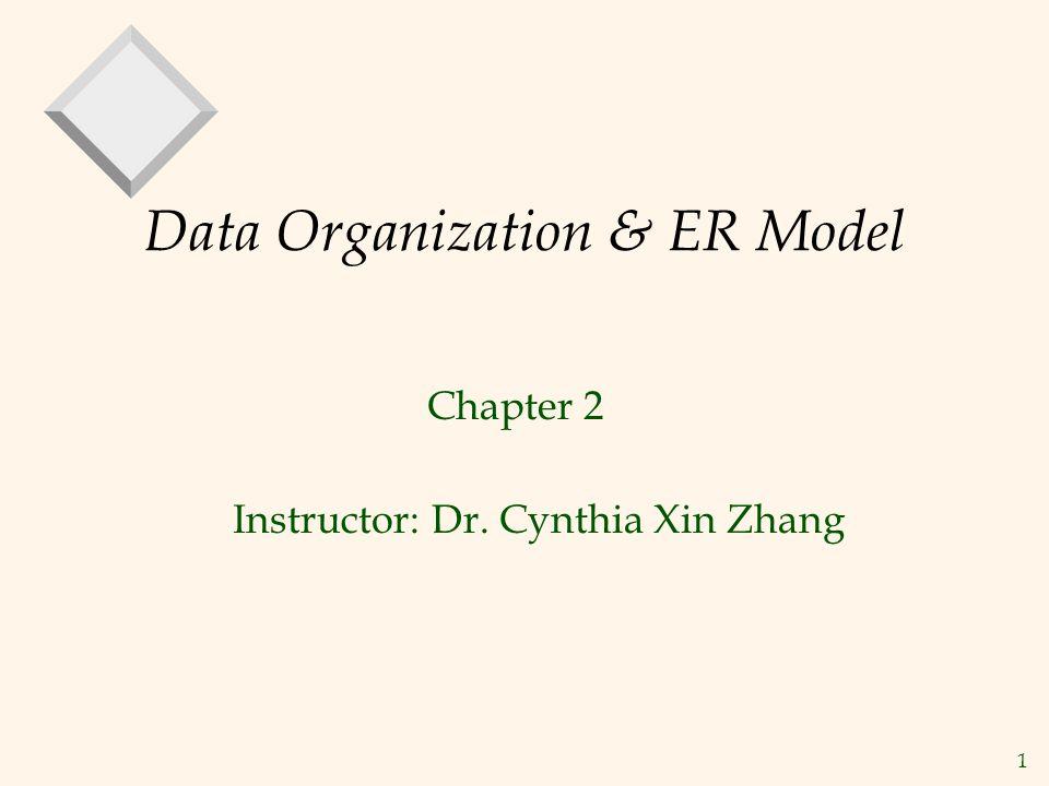 Data Organization & ER Model