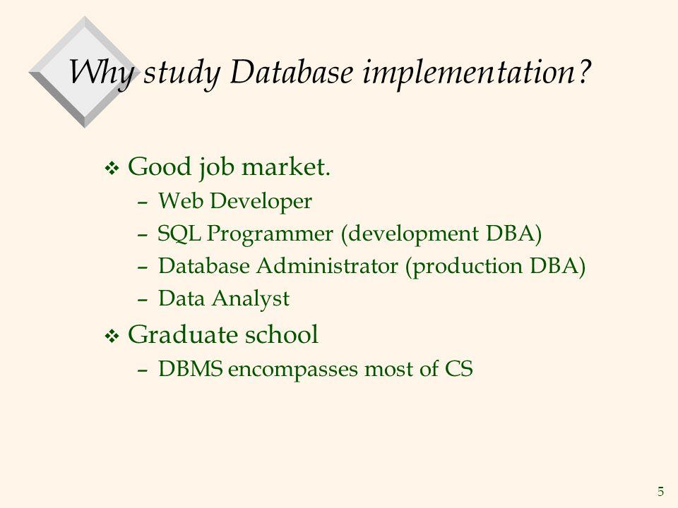 Why study Database implementation