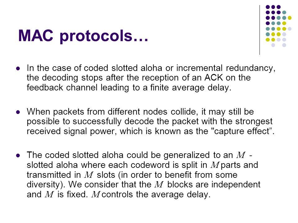 MAC protocols…