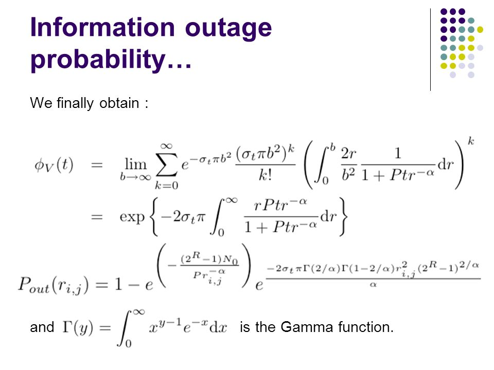 Information outage probability…