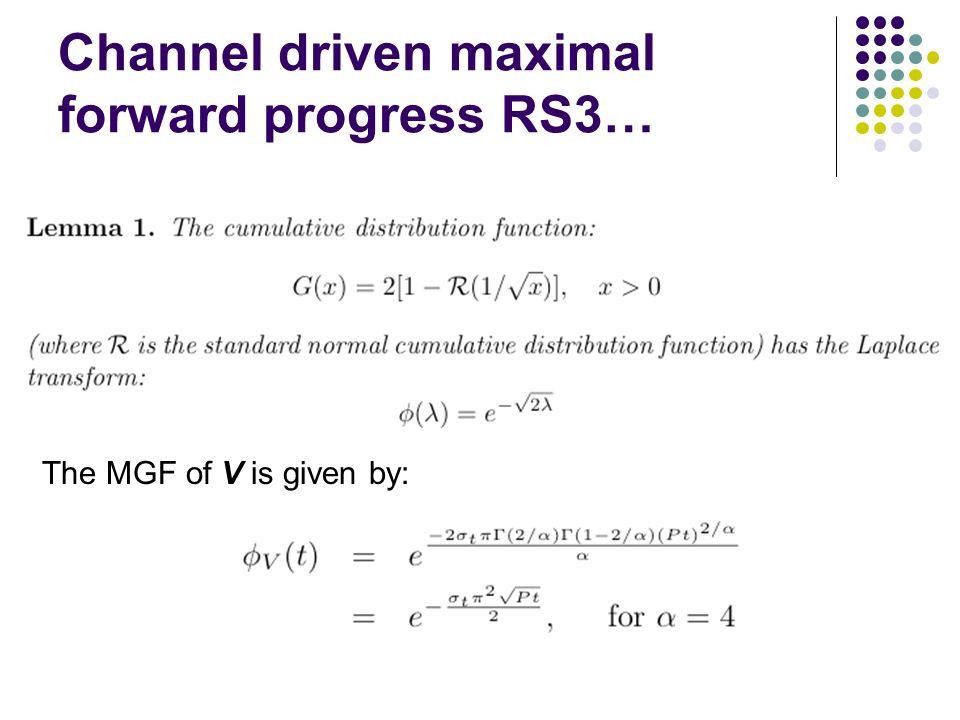 Channel driven maximal forward progress RS3…
