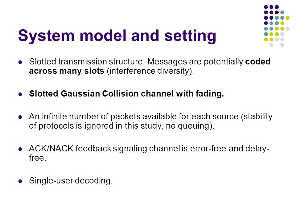 System model and setting