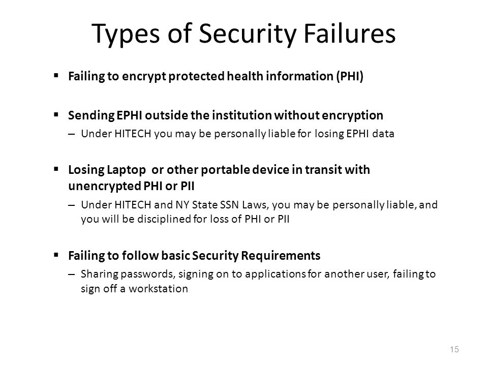 Types of Security Failures