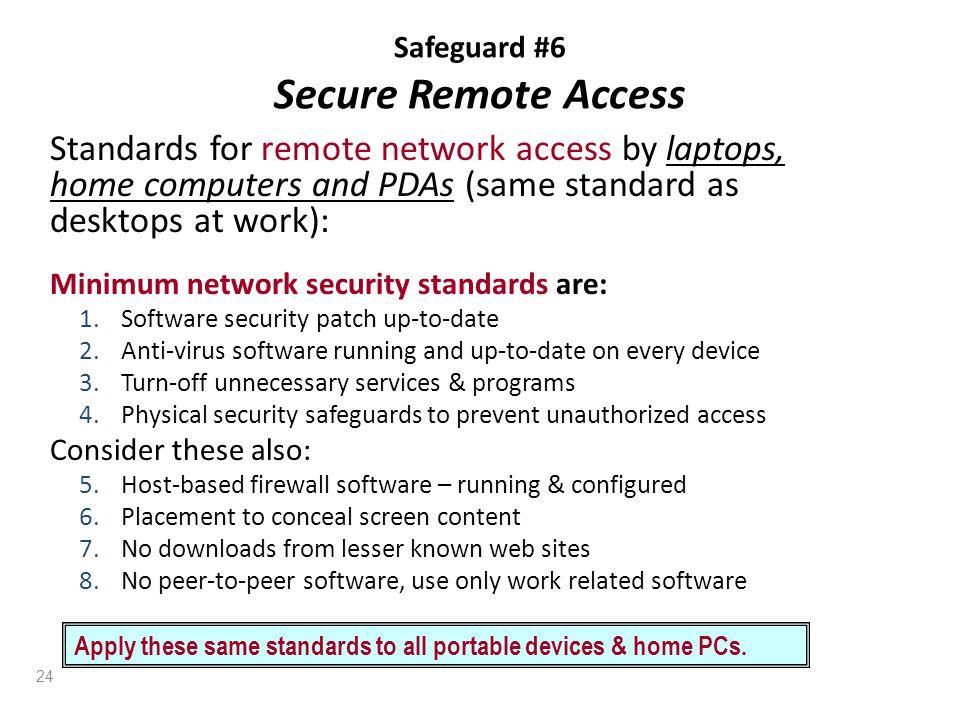 Safeguard #6 Secure Remote Access