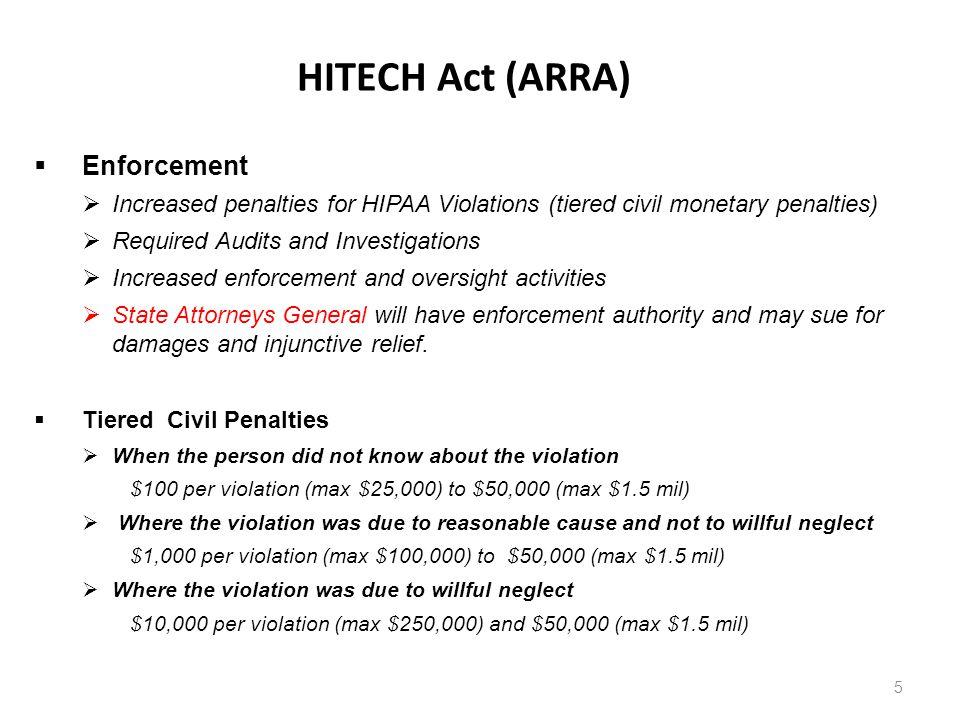 HITECH Act (ARRA) Enforcement