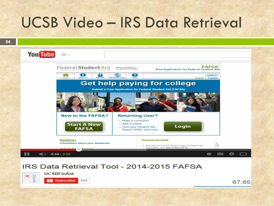 UCSB Video – IRS Data Retrieval