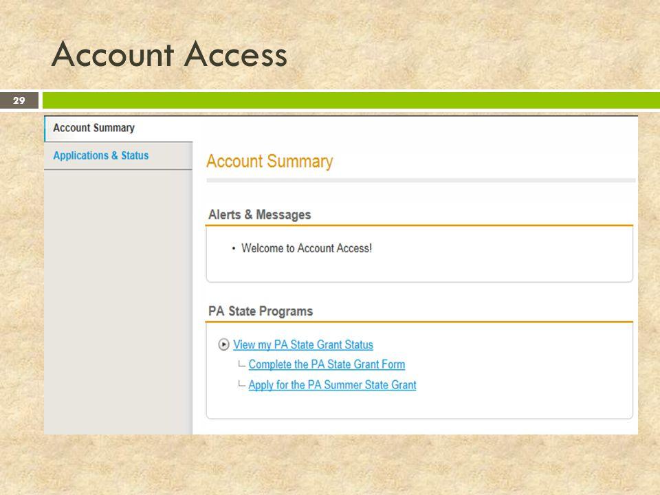 Account Access