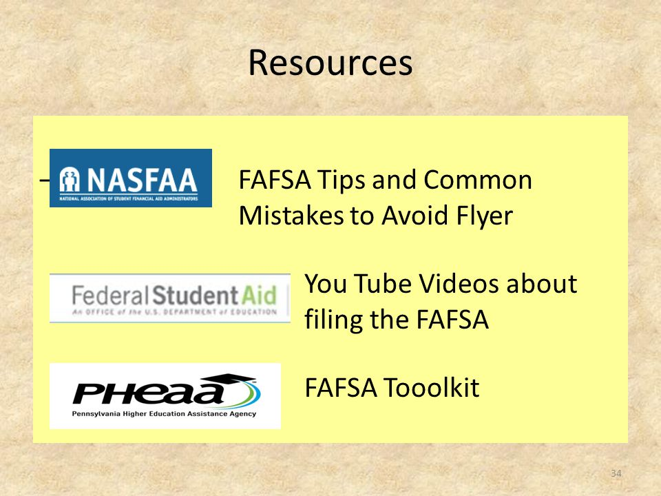 Resources – FAFSA Ti FAFSA Tips and Common Mistakes to Avoid Flyer