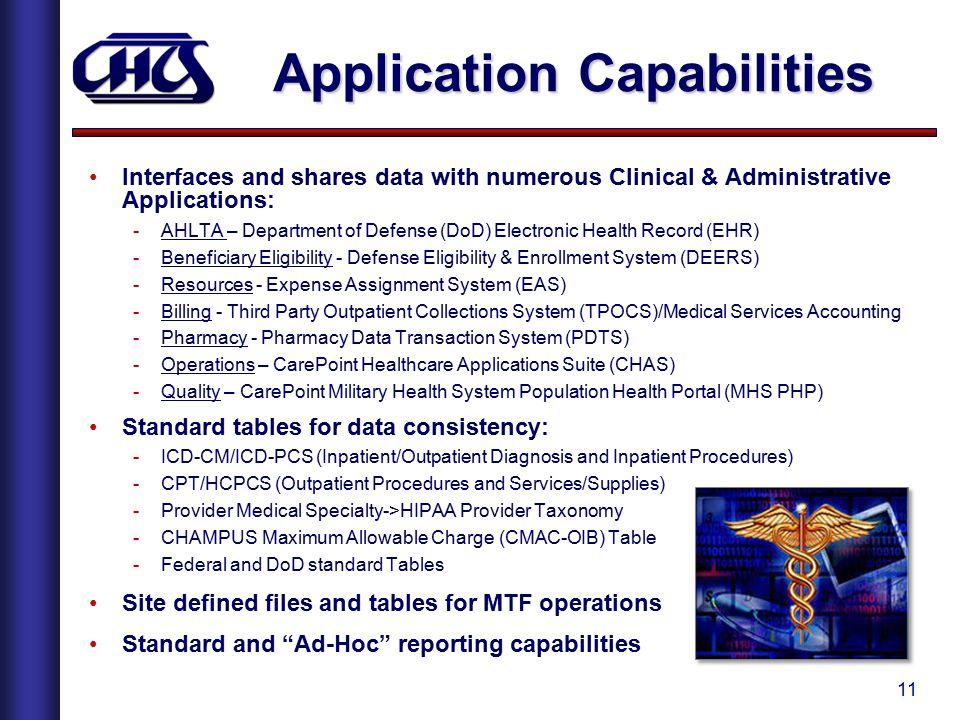 Application Capabilities