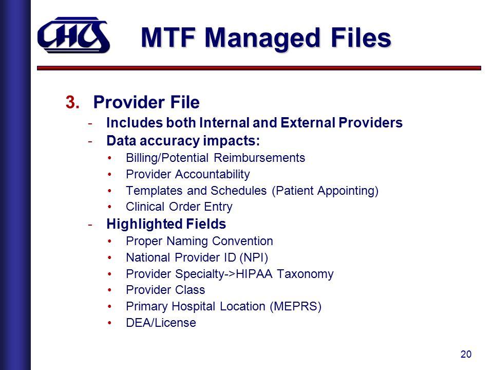 MTF Managed Files Provider File