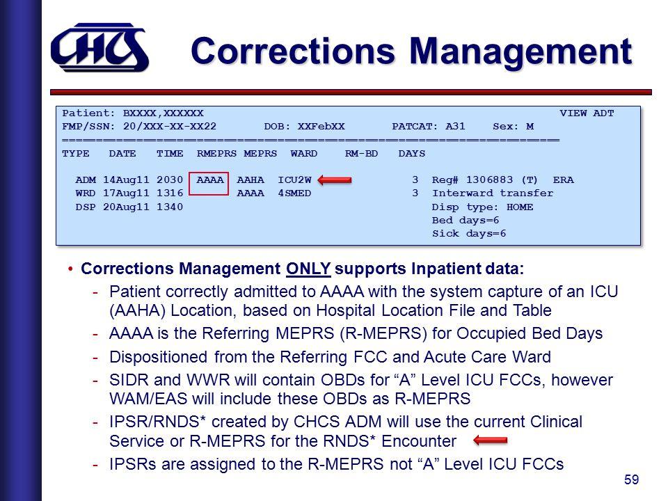 Corrections Management