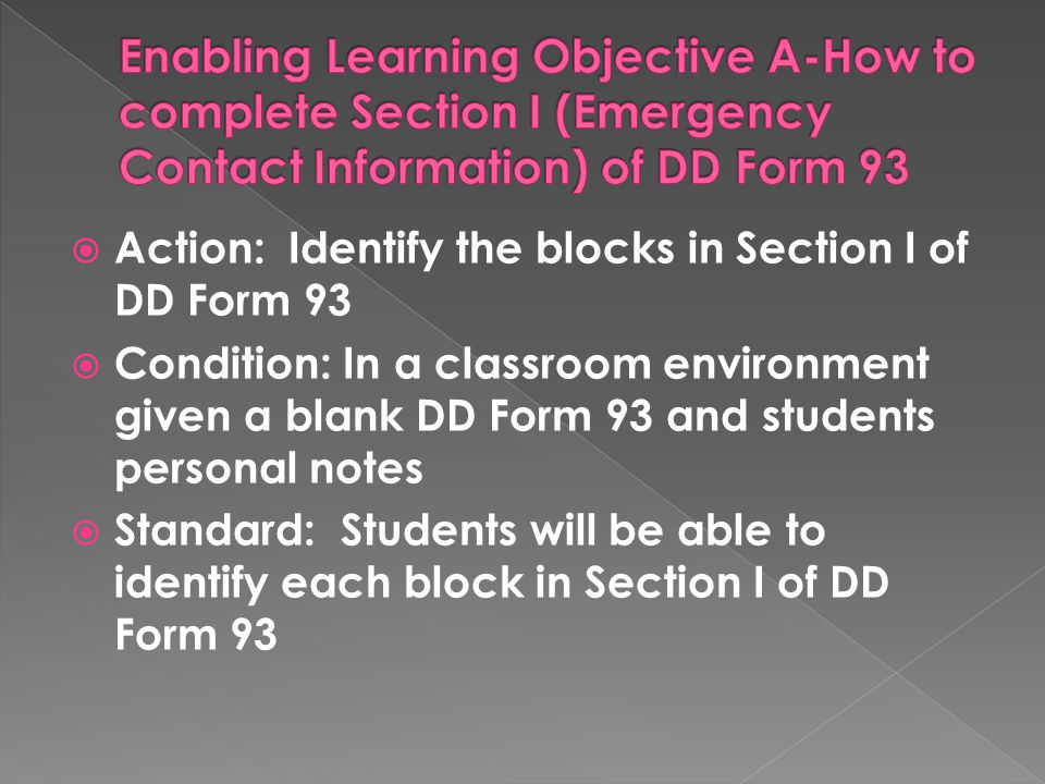 How To Complete Dd Form 93 For Soldiers - Ppt Video Online Download