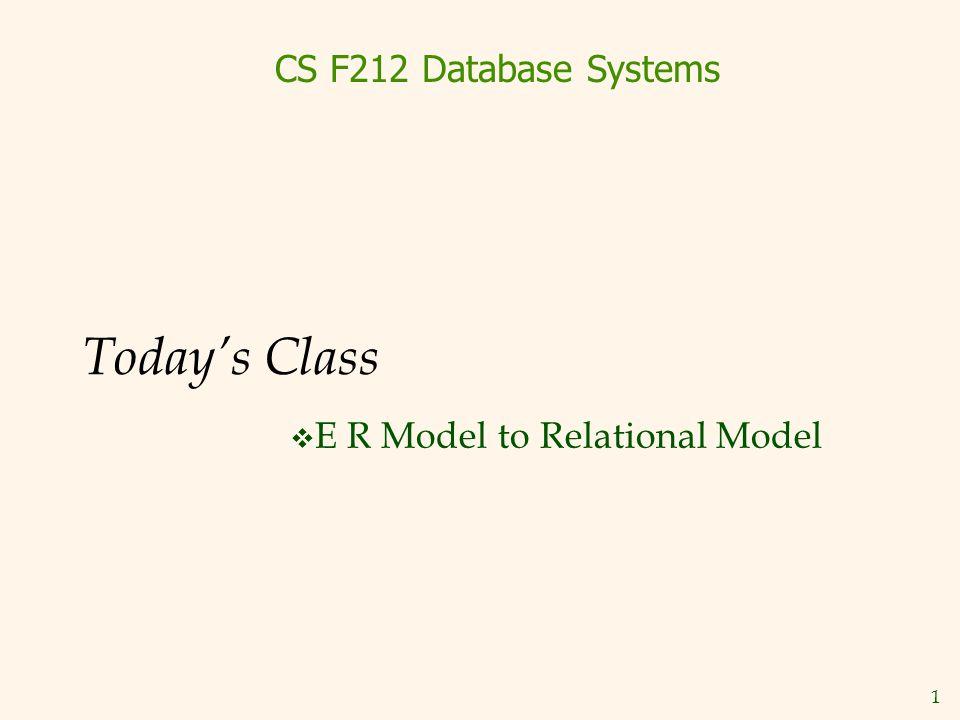 E R Model to Relational Model