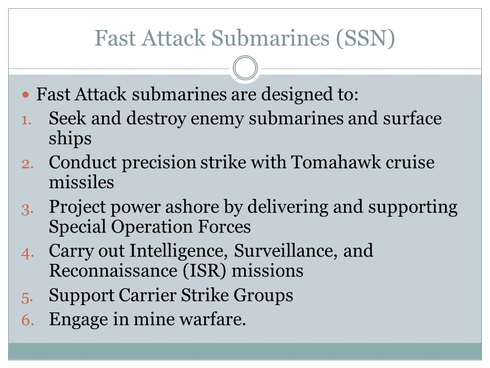 Fast Attack Submarines (SSN)
