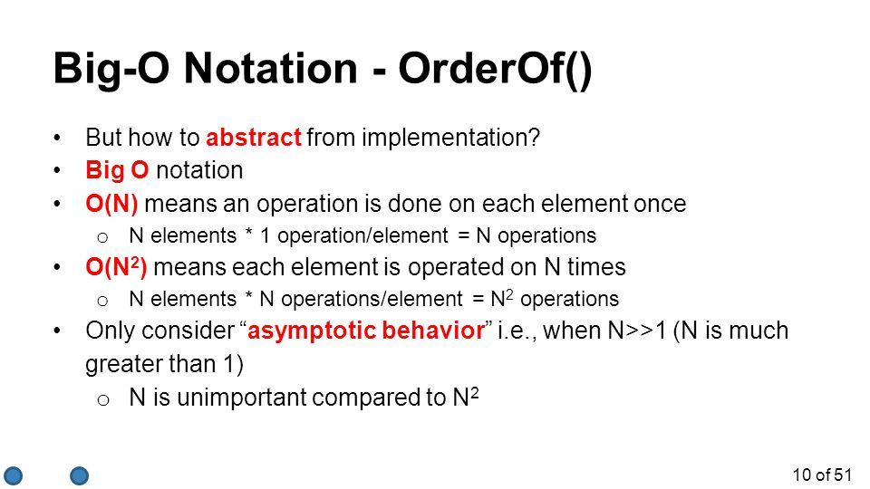 Big-O Notation - OrderOf()