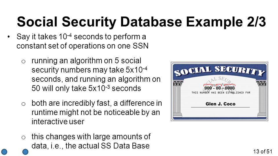 Social Security Database Example 2/3