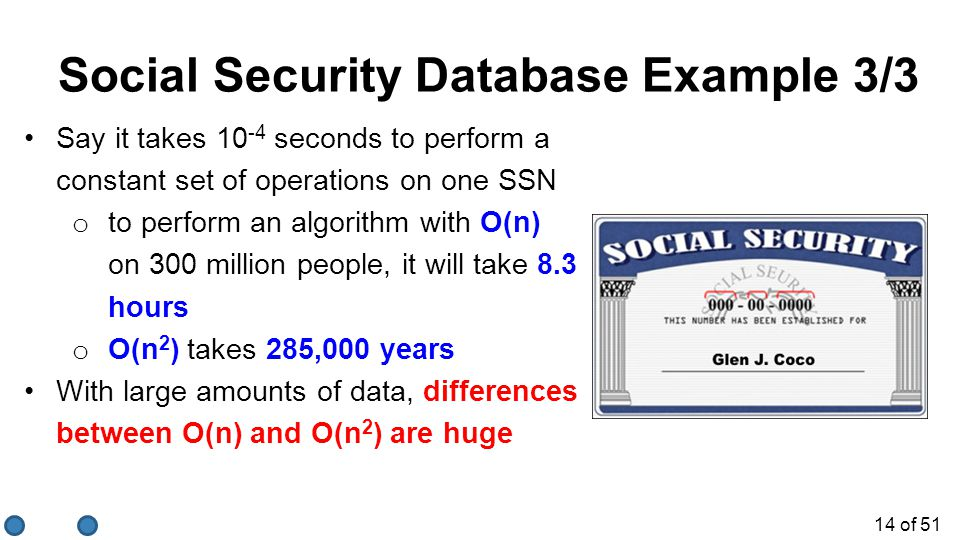 Social Security Database Example 3/3