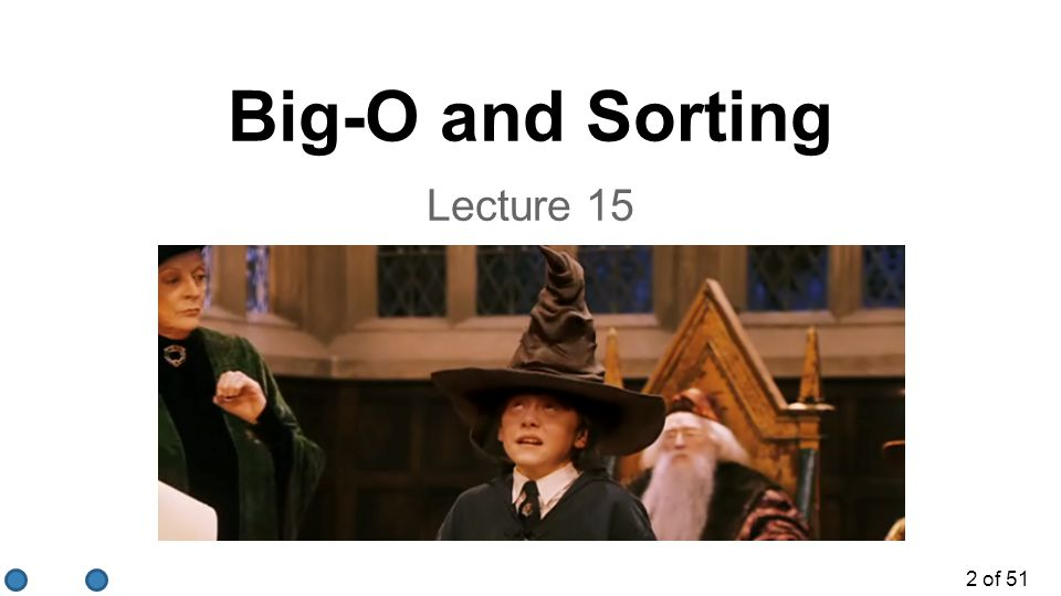 Big-O and Sorting Lecture 15