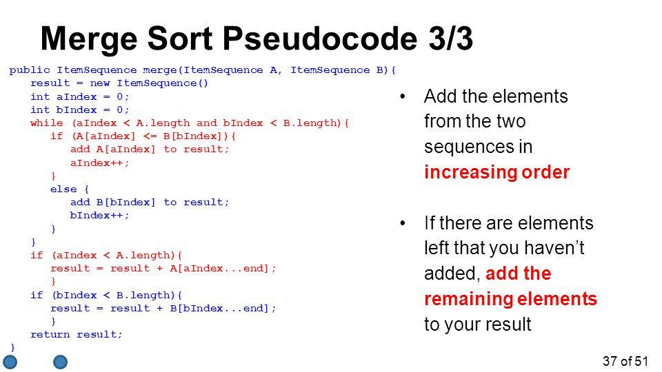 Merge Sort Pseudocode 3/3
