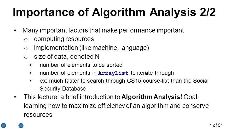 Importance of Algorithm Analysis 2/2